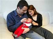 Michal Viewegh s rodinou; rok 2003