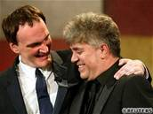 Cannes 2004 - Quentin Tarantino - Pedro  Almodóvar
