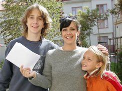 Tereza Brodská se svým seriálovým synem