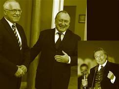Václav Klaus, Vítězslav Jandák, Karel Gott