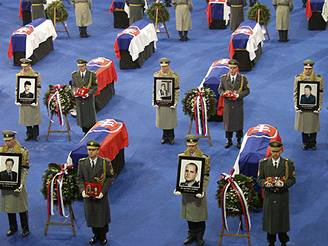 Slovensko se rozloučilo s vojáky.