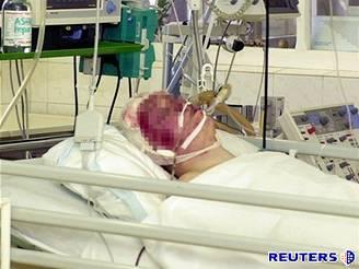 Přeživší voják v košické nemocnici