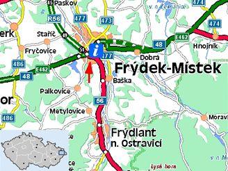 Nehody desítek aut ochromily Frýdecko-Místecko