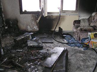 Televizor zapálil byt v Horní Bříze