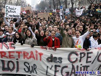 Studentské nepokoje ve Francii