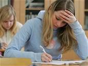 škola, student, test, únava, studium, učebnice, zkouška