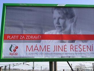 Volební billboard KSČM