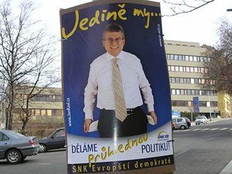 Předvolební plakát SNK ED