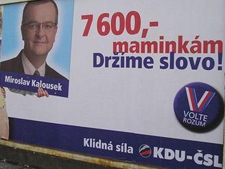 Volební billboard KDU-ČSL