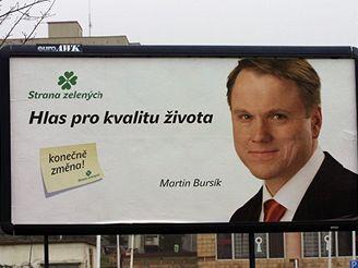 Předvolební billboard Strany zelených