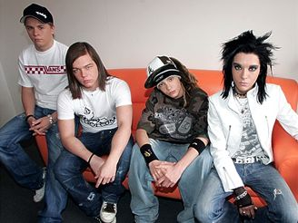 Kapela Tokio Hotel v Praze