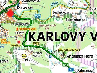 mapa Drahovice