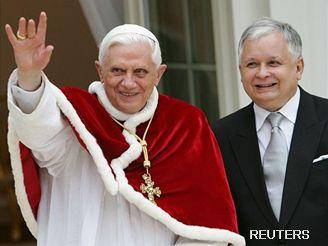 Benedikt XVI. s prezidentem Kaczynskim