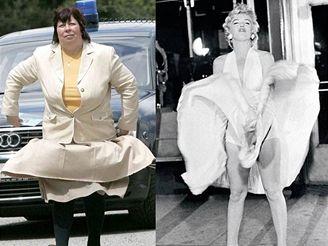 Marilyn Monroe - najdi deset rozdílů