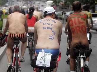 World Naked Bike Ride v Praze
