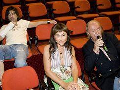 Konkurz do muzik�lu D�ti r�je - Sagvan Tofi, Kate�ina Hrachovcov� a Franti�ek Jane�ek