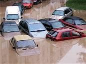 Následky bouřky v Chrudimi