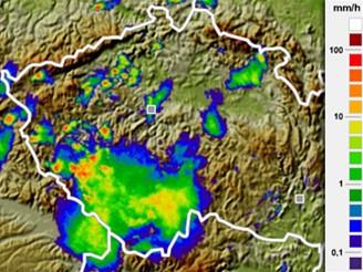 Přívalové deště 12. července 2006 v 17:45