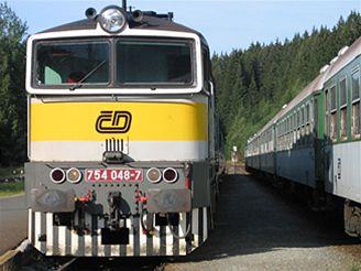 vlak, �eleznice, �d, �eské dráhy, lokomotiva, 754, rychlík, �elezná ruda