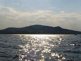 Slunce nad Pálavou - Při projížďce lodičkou po Novomlýnské nádrži