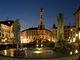 Letní večer v Olomouci – Sloup Nejsvětější Trojice a  Arionova  kašna, Olomouc