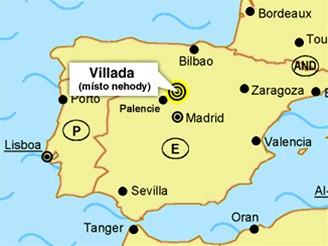 mapka - Villada Španělsko