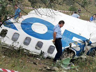 Trosky Tu-154 u ukrajinského Doněcku