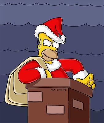 Simpsonovi - Homer jako Santa Claus
