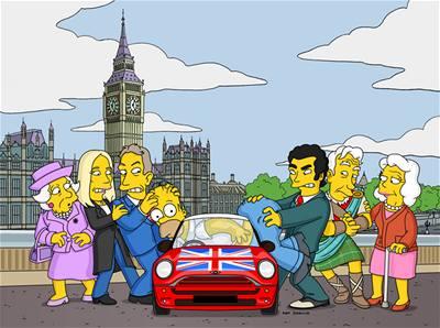 Simpsonovi - Homer v Londýně