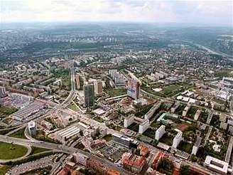 Letecký pohled na Pankrác, 2005