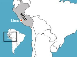 mapka - PERU / Lima