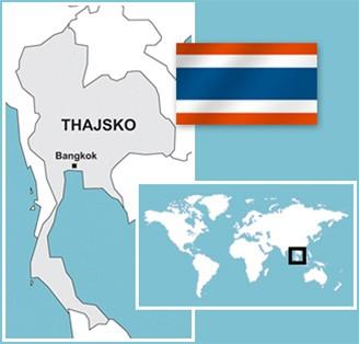 mapka - Thajsko