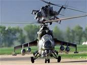 Tygří letka z přerovské vrtulníkové základny.