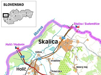 mapka: Skalica, Slovensko