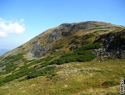 Vrcholek Babí hory pokrývají alpínské louky a su�oviska