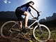 Cyklista na horském kole