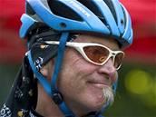 Gary Fischer p�i ned�vn� n�v�t�v� Prahy. Americk� boh�m a kultovn� postava Gary Fisher vynalezl a postavil v 70.letech horsk� kolo. Jeho kola stejnojmenn� zna�ky pat�� ve sv�te k nej��dan�j��m.