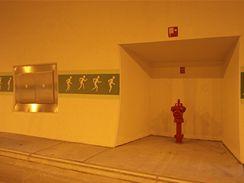Valík - bezpečnostní výklenek a požární hydrant