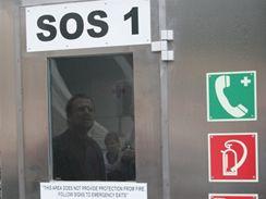 Valík - SOS hláska před tunelem u portálu Rozvadov