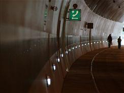 Valík - bezpečnostní prvky v tunelu