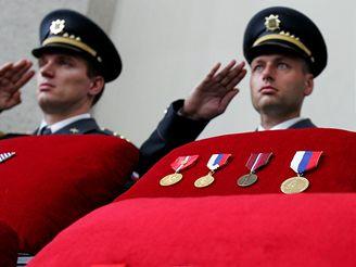 Pohřeb Františka Fajtla.
