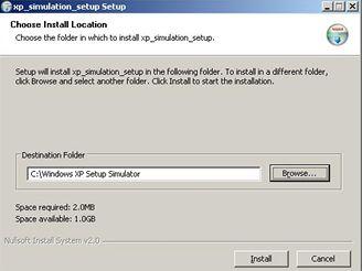 Windows XP Setup Simulator