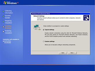 Windows XP Setup Simulator