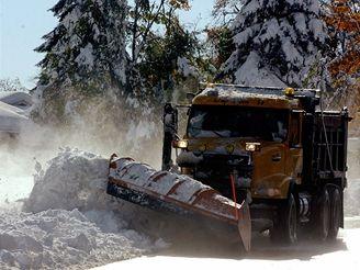 Sněhová bouře v Buffalu