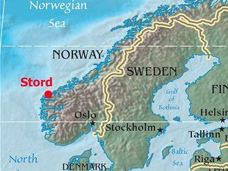 mapa - norsko - stord