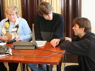 Martin Mejstřík na tiskové konferenci Vojtěch