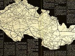 Trasa velké železniční výpravy Rudolfa Křesťana v roce 1978