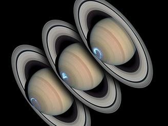Saturnova polární záře v pohybu