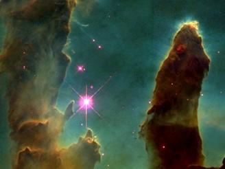 Plynové pilíře v Mlhovině orla (M16): Pilíře stvoření v oblasti formování hvězdy