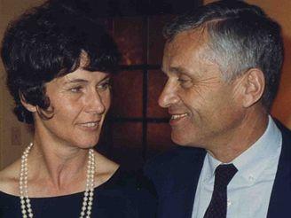 Josef Mašín s manželkou, USA 1993
